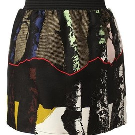 balenciaga - Silver Birch Cotton Wool Miniskirt