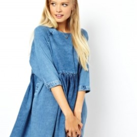 asos - denim smock dress