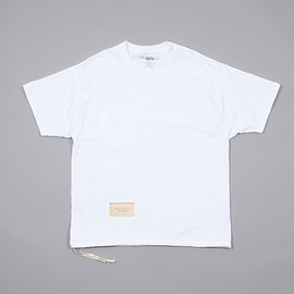 HESTRADA Gee-Wiz - S/S SWITCH with POCKET TEE W/ATHLETIC SHOE LACE #White