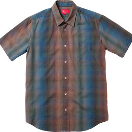 supreme - shadow plaid shirt