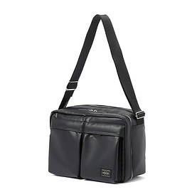 "HEAD PORTER - ""KRUGER"" SHOULDER BAG (L) BLACK"