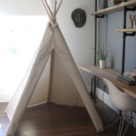 houseinhabit - 6 ft Fold Away Canvas Teepee