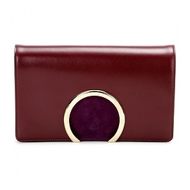 Chloé - Leather and suede clutch