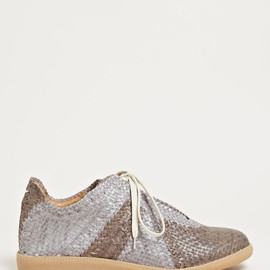 Maison Martin Margiela - Maison Martin Margiela Men's Woven Leather Sneakers