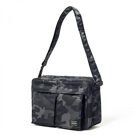 "HEAD PORTER - ""JUNGLE"" SHOULDER BAG (L) BLACK"