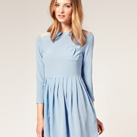 asos - TBA Sheer Shoulder Insert Silk Dress
