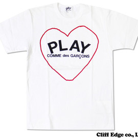 PLAY COMME des GARCONS - ハートPLAYロゴ Tシャツ