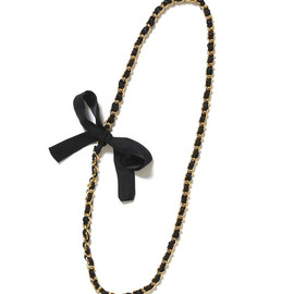 MUVEIL - Black Ribbon Necklace