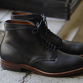 ALDEN x ARCH - Navy Chromexcel Plan Toe Boot Modified