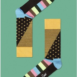Happy Socks - STRIPES AND DOTS COMBED COTTON