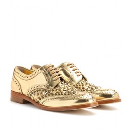 DOLCE&GABBANA - STUDDED LEATHER BROGUES