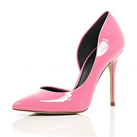 River Island - PINK CUT OUT SIDE COURT SHOES(River Island)