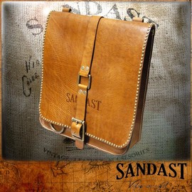 SANDAST - Charles Cognac Leather Bag