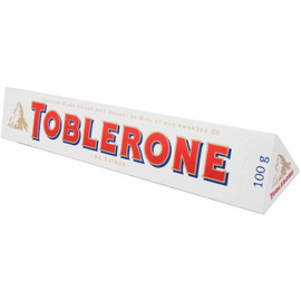 TOBLERONE - Swiss White Chocolate with Honey and Almond Nougat