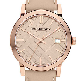 Burberry - Check Stamped Round Dial Watch, 38mm