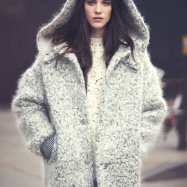 Stella McCartney - Stella McCartney Hooded Mohair and Wool-blend Bouclé Coat