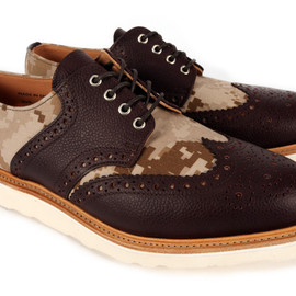 Mark McNairy New Amsterdam - x Bodega Digi Desert Camo Wing Saddle
