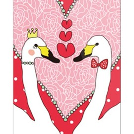 SECOND SKIN - uistore「LovelySwan(LoveRed)」 / for  iPhone 5/SoftBank