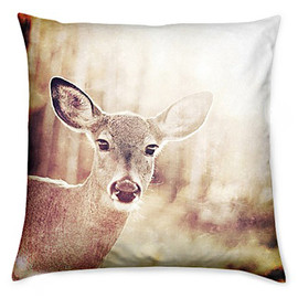 csera surface design - Autumn Fall Throw Cushion For Home Trend Decor, Vintage Style Deer Photograph Accent Pillow with Cover and Insert