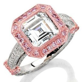 Tiffany & Co. - rose gold pink diamond ring