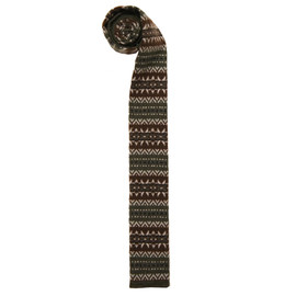 Engineered Garments - Knit Tie,Olive Fair Isle