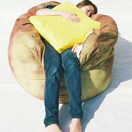 Bfiberandcraft - Baked Potato Bean Bag Chair w/ Butter Pillow
