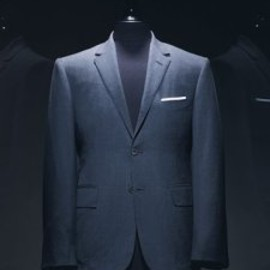 Thom Browne - Datk Grey Notch Lapel Jacket