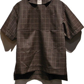 SUN SEA - Wool check Tee