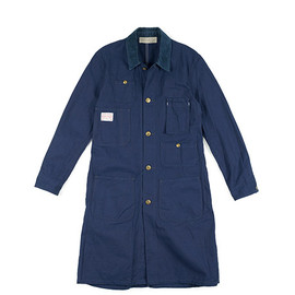 Boncoura - Shop Coat-Indigo Navy Herringbone