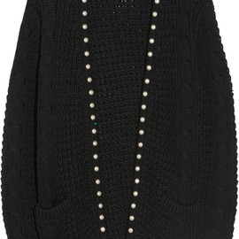 SAINT LAURENT - Studded wool and cotton-blend cardigan