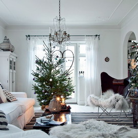 interior - Christmas living room