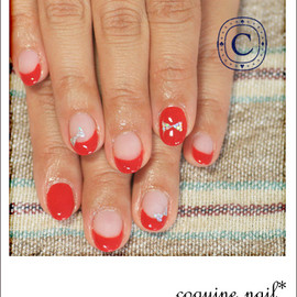 coquine nail - ribbon*red