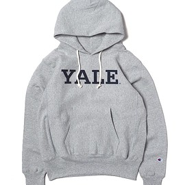 Champion - MADE IN USA C5-Q105 RW P/O HOODED SWEAT YALE UNIVERSITY