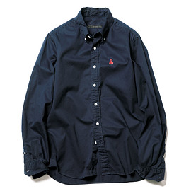 SOPHNET. - STANDARD COTTON TWILL B.D SHIRT / NAVY