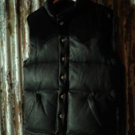 THE REAL McCOY'S - DOWN VEST / DEER SKIN