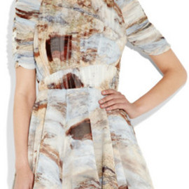 Cylinder crepe and jacquard dress