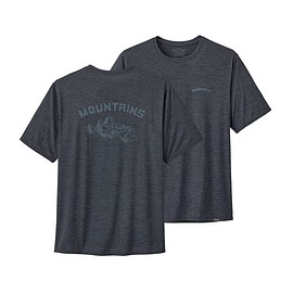 patagonia - M's Capilene® Cool Daily Graphic Shirt, Playlands - Mountains: Smolder Blue X-Dye (PMSX)