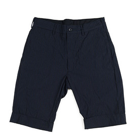 ENGINEERED GARMENTS - Cinch Short-Pin Stripe-Nvy×Lt.Blu