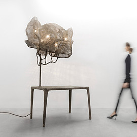 Nacho Carbonell - Nacho Carbonell wraps lamps in mesh cocoons for Carpenters Workshop exhibition