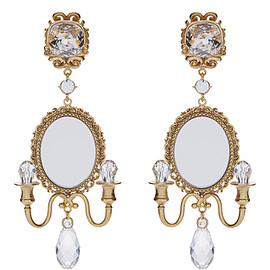 DOLCE&GABBANA - FW2016 Mirror On The Wall Chandelier Earrings