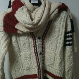 thom browne - cardigan and muffler but not GB walles
