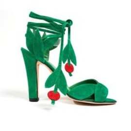 Manolo Blahnik - green and cherry