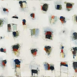 Sandra Quinn - Step by Step 5, 2010, encaustic on canvas