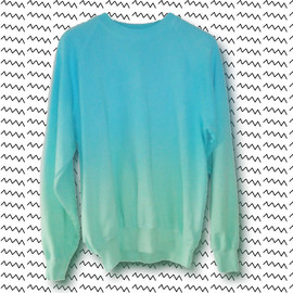 DON SEBASTIAN - Green & Blue Gradient Sweater (EXTRA VIBRANT)