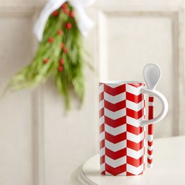 Starbucks Coffee - Chevron Pattern Mug with Spoon