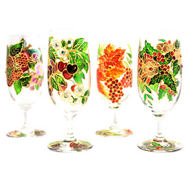 Luulla - Hand Painted Glass, Winter, Seasonal Collection