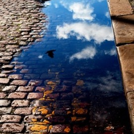 BLUE: Clouds in puddle