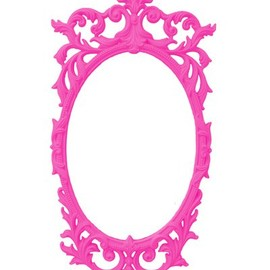 Brightly Colored Ornate Baroque Syroco Mirror