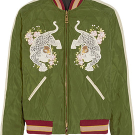 Chloé - Reversible quilted sateen bomber jacket