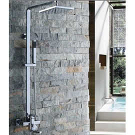FaucetSuperDeal - 8 Inch Chrome Rainshower Shower Suit with Handshower and Shower Heads – FaucetSuperDeal.com